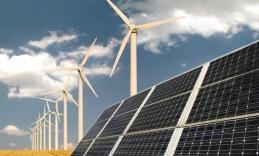 ветряная и солнечная электростанции