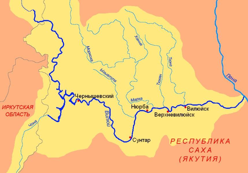 Карта реки